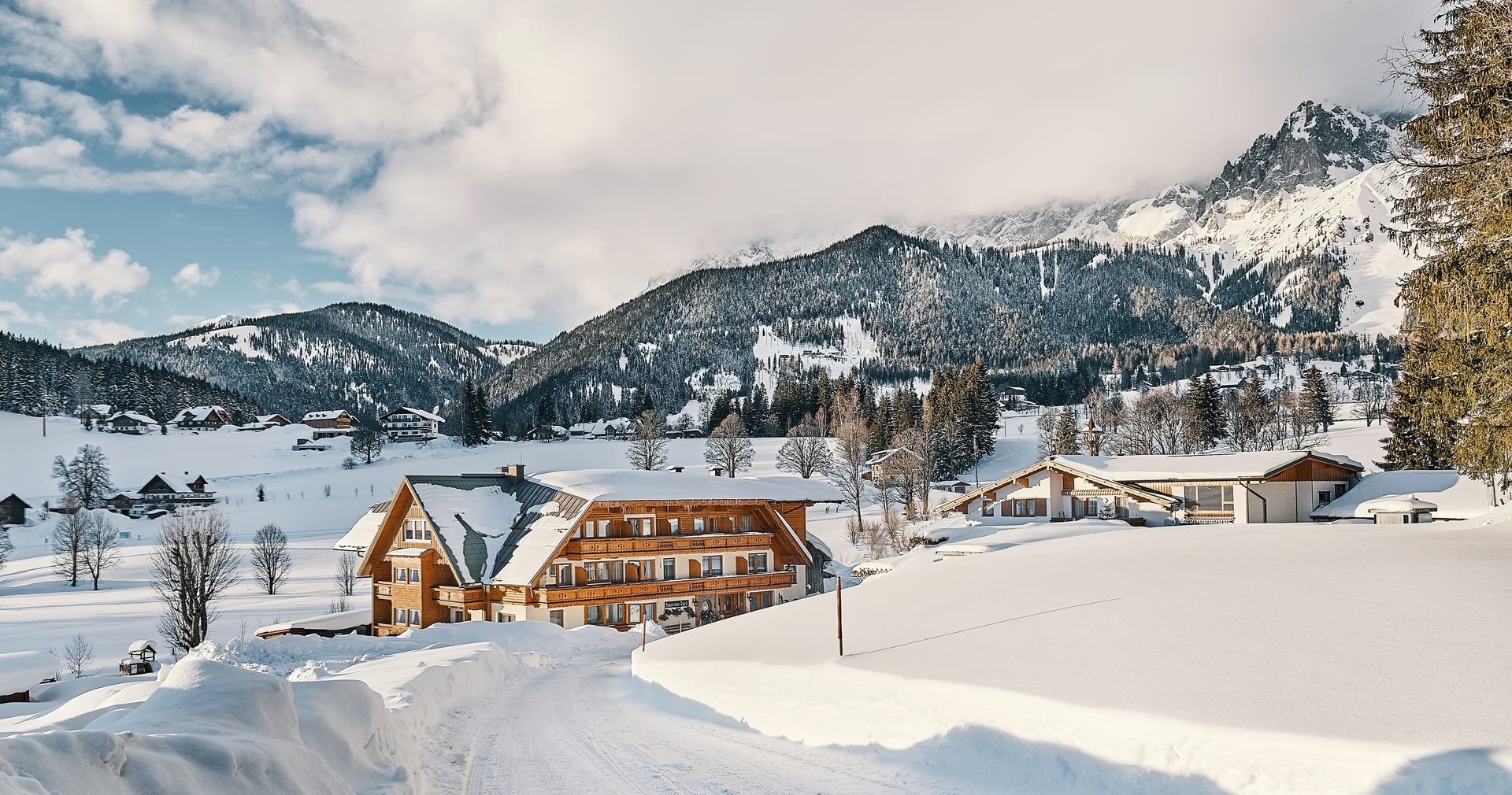 Pension Haus am Bach im Winter